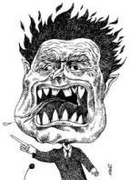 caricature of anger