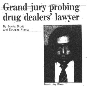 photo of Marvin Glass in newspaper