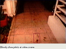 photo of foot print at Buny murder site