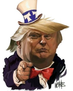 donald trump in uncle sam hat