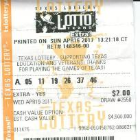 TEXAS LOTTO COLOR TICKET