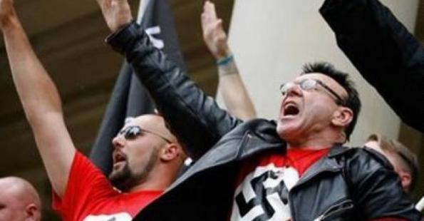 nazi saluting