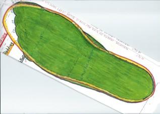 OJs Green full foot padded 001