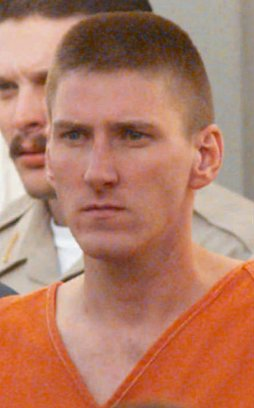 ARCHIV---Timothy McVeigh, a suspect in the bombing of the Alfred Murrah Federal Building in Oklahoma City, is escorted from the Noble County Courthouse in Perry, Oklahoma, in this Friday, April 21, 1995, file photo. McVeigh and co-defendant Terry Nichols were scheduled to attend a motions hearing in Denver Tuesday, April 9, 1996. (AP Photo/David Longstreath, file)