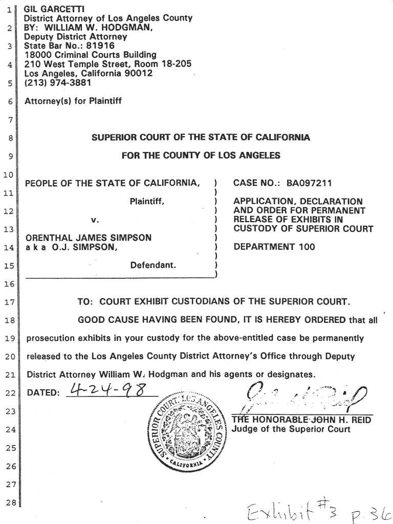 figure 12.3 order from judge john reid to wm hodgman