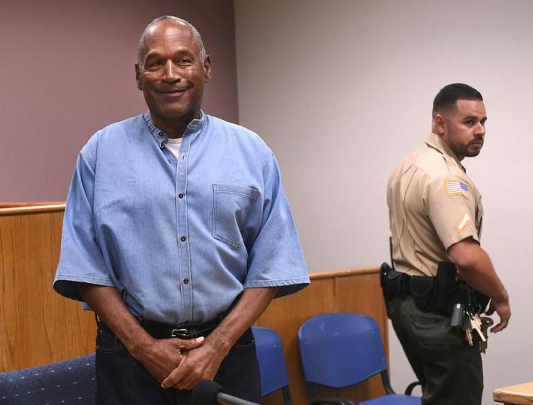 oj Simpson leaving prison two