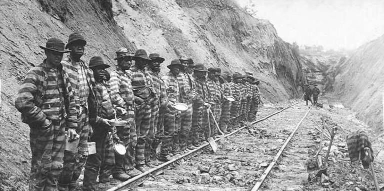 convict leasing system black railroad gang