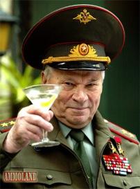 Russian general salutes