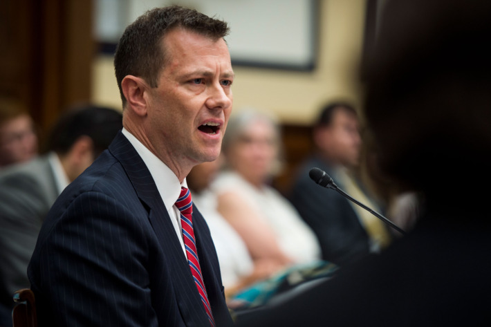 FBI agent peter strzok during testimony