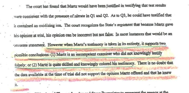 Martz called incompetent by the FLA court