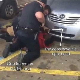 alton sterling on the ground