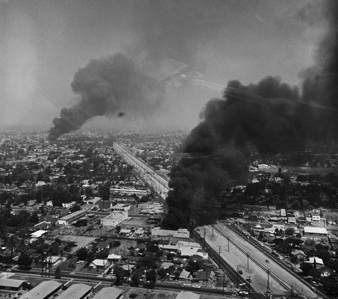 LA burning in 1992 two
